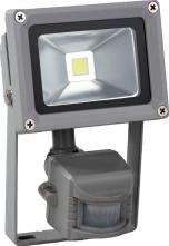 Venkovní LED reflektor 10W, bílá, se senzorem