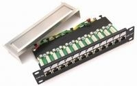Patch panel CAT5e FTP 12port 10""