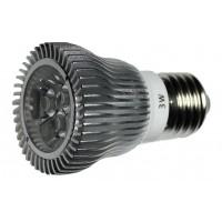 LED 3W, 230V, patice E27, 180lm, stříbrná