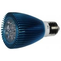 LED 5W, 230V, patice E27, 280lm, modrá