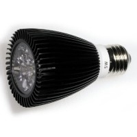 LED 5W, 230V, patice E27, 280lm, černá