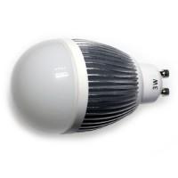 LED 3W, 230V, patice GU10, 160lm, stříbrná